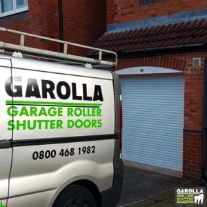 Small White Roller Garage Door