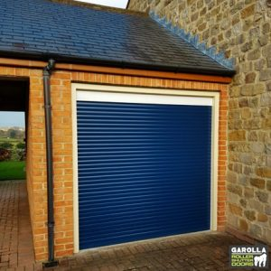 Blue Roller Garage Door
