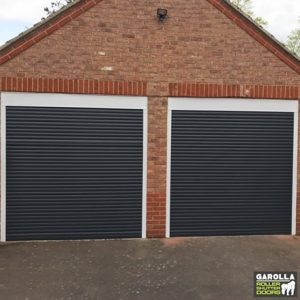 Double Roller Garage Doors in Black