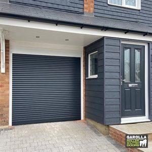 Single Roller Garage Door in Anthracite Grey - 55mm Slats